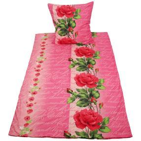 Rose Dream Bettwäsche 2-teilig, Blüten & Schrift