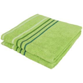 Duschtuch 2-teilig grün, 70 x 140 cm