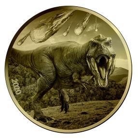 1 kg Dinosaurier-Münze mit Meteorit