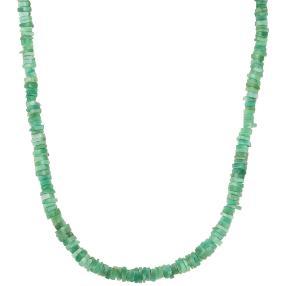 Collier Smaragd, 925 Silber vergoldet