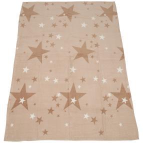 GÖZZE Kuscheldecke 'Sterne', beige/taupe