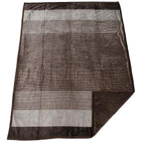 GÖZZE Kuscheldecke Streifen taupe 150x200 cm