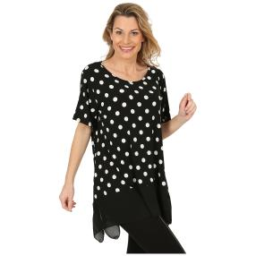 Damen-Longshirt schwarz/weiß