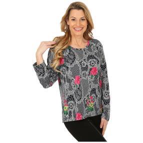 Damen-Pullover marine/pink