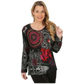 Damen-Pullover schwarz/multicolor