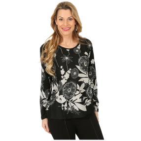 Damen-Pullover schwarz/weiß