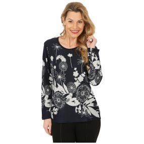 Damen-Pullover marine/weiß
