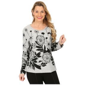 Damen-Pullover weiß/schwarz