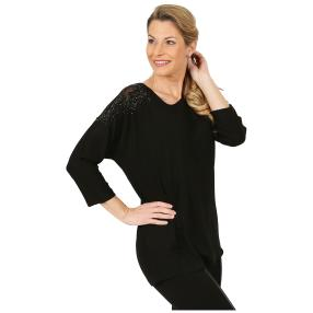 MILANO Design Damen-Shirt schwarz