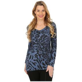 Damen-Pullover blau/schwarz