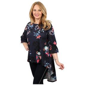 CANDY CURVES Longshirt multicolor, Blumenprint