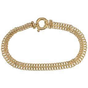 Saduza Armband 585 Gelbgold, ca. 19 cm