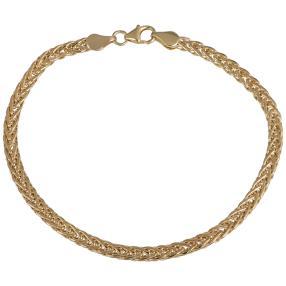 Spiga Armband 585 Gelbgold, ca. 19cm