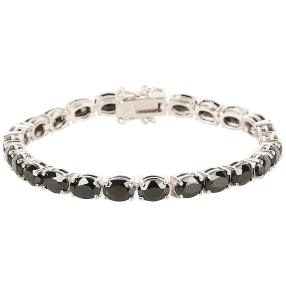 Armband 925 Sterling Silber rhodiniert Spinell