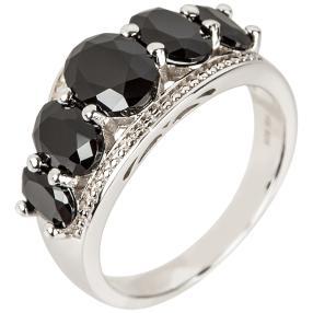 Ring 925 Sterling Silber rhodiniert, oval, poliert