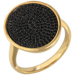 Ring 925 Sterling Silber vergoldet Spinell