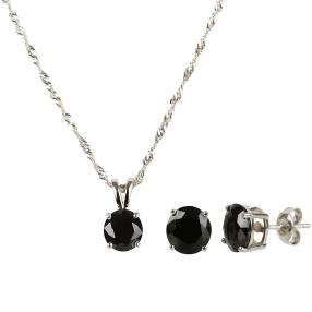 3-teiliges Set 925 Sterling Silber Spinell