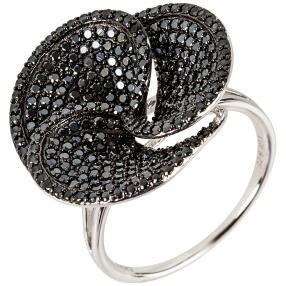 Ring 925 Sterling Silber rhodiniert Spinell, rund
