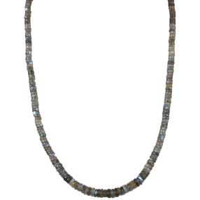 Collier Labradorit, ca. 100 ct