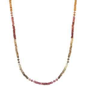Collier Granat multicolor, 925 Silber
