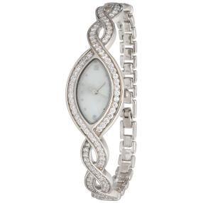 Damenuhr 925 Silber Zirkonia