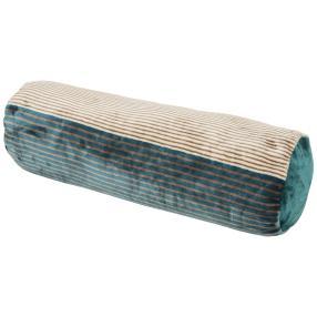 GÖZZE Kissenrolle Streifen petrol 70x22 cm