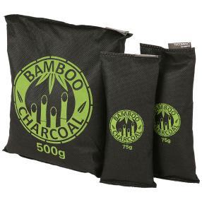 3er Set Bambus Luftentfeuchter mit Aktivkohle