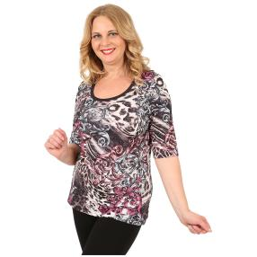 BRILLIANTSHIRTS Damen-Shirt 'Fijara' multicolor