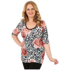 BRILLIANTSHIRTS Damen-Shirt 'Finola' multicolor