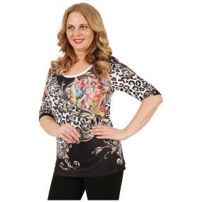 BRILLIANTSHIRTS Damen-Shirt 'Fayola' multicolor