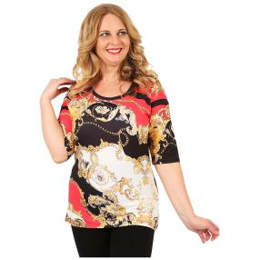 BRILLIANTSHIRTS Damen-Shirt 'Farah' multicolor