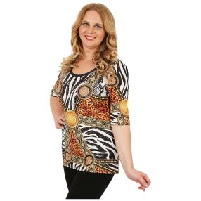 BRILLIANTSHIRTS Damen-Shirt 'Fabricia' multicolor