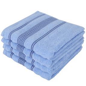 Handtuchset 4-teilig, Streifen blau, 50 x 100 cm