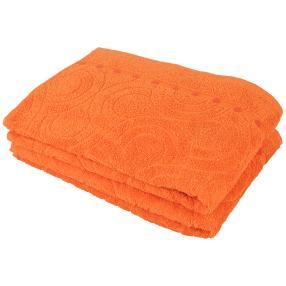 Duschtuch 2-teilig, orange, 70 x 140 cm