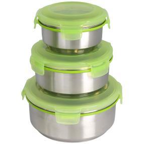 KING KLICKBOX Vorratsdosen grün 3-teilig