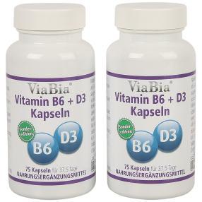 ViaBia Vitamin B6 + D3 75 Kapseln