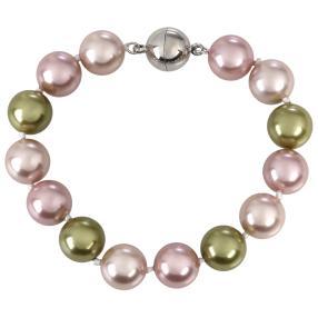 Armband Muschelkern-Perle, ca. 21 cm