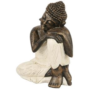 Darimana Buddha Relax weiß-gold