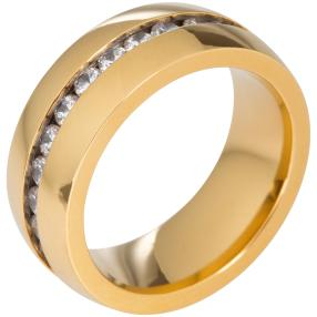 Ring Titan vergoldet Zirkonia