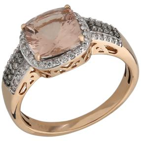 STAR Ring 585 Roségold AAA Morganit Brillanten