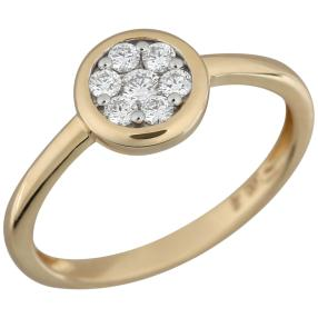 Ring 585 Gelbgold Brillanten lupenrein ca. 0,25ct.