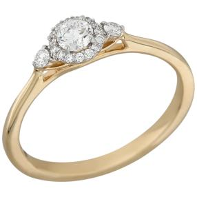 Ring 585 Gelbgold Brillanten lupenrein ca. 0,35ct.
