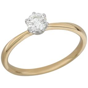 Ring 585 Gelbgold Brillanten lupenrein ca. 0,40ct.