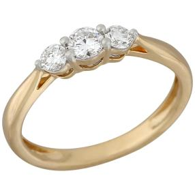 Ring 585 Gelbgold Brillanten lupenrein ca. 0,45ct.