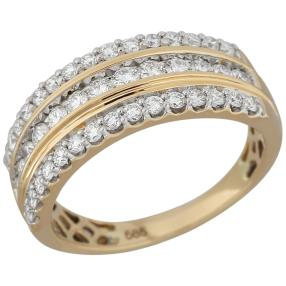 Ring 585 Gelbgold Brillanten lupenrein ca. 1,0ct.