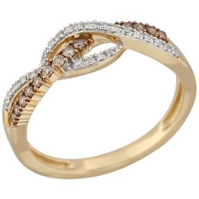 Ring 585 Gelbgold Diamanten ca. 0,25ct.