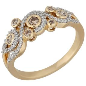 Ring 585 Gelbgold Diamanten ca. 0,45ct.