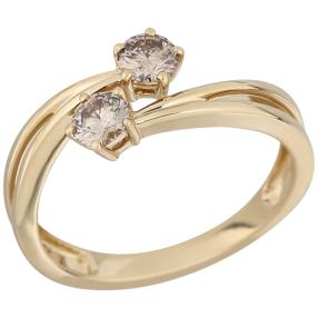 Ring 585 Gelbgold Brillanten ca. 0,50ct.