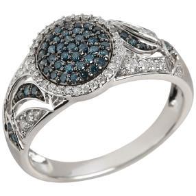 Ring 585 Weißgold Diamanten ca. 0,50ct.