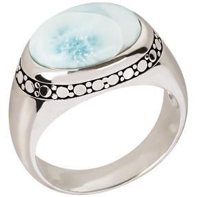 Ring 950 Silber rhodiniert Larimar, ca. 4,45 ct.